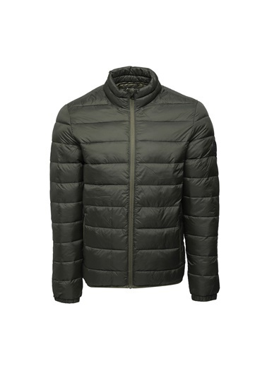 Jack & Jones Jjemagic Puffer Collar No Erkek Mont Haki